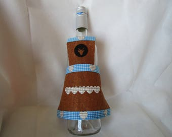 Brown felt bottle apron