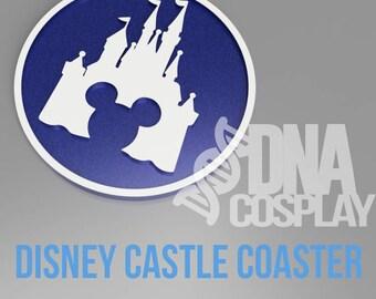 Disney Castle-Inspired Coaster - 3D Printed & Resin filled