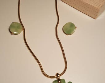 Alice Caviness vintage necklace and earring set