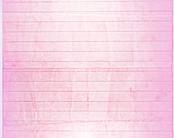 Printable Journal Page, Pink Lined Digital Stationery, 8 x 10 JPG Instant Download, Scrapbooking Paper, Digital Art Paper, Writing Paper