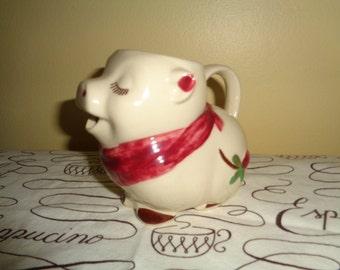 Shawnee Pig Creamer Raspberry Blossom Vintage Shawnee Pottery