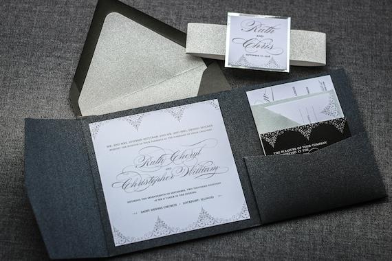 Pocketfold Wedding Invitations Wholesale: Formal Wedding Invitations Luxury Pocketfold Wedding