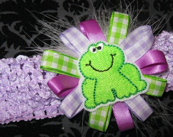 Froggy Crochet Headband
