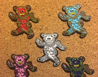 Jerry Bear Pin 5 Pack
