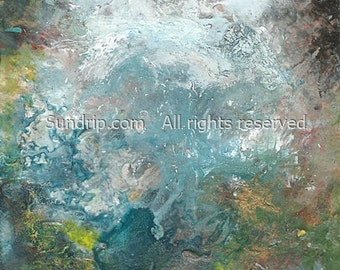 Original Abstract Seascape White Waves Heaven Pools