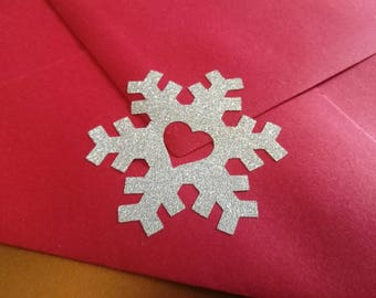 25 snowflake stickers, silver or gold christmas snowflake envelope seals, christmas decorations, gold glitter stickers, xmas envelope seals