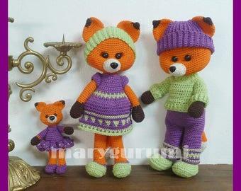 Fox, crochet, Amigurumi plush