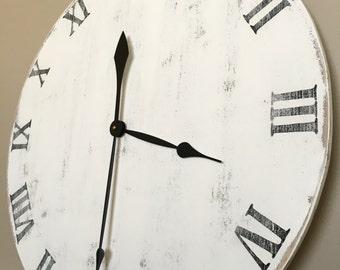 Handmade, Rustic, & Distressed Wall Clock