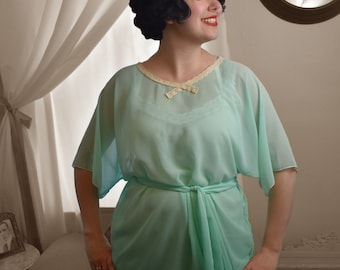 OOAK Mint 1920's Inspired Blouse