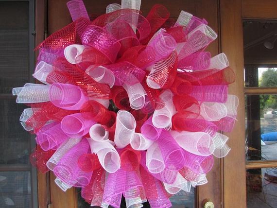 3\' Valentine\'s Day Wreath Valentine Day Decor Red Pink