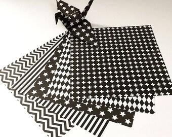 Origami Paper Sheets - Monotone Design Pattern - 100 Sheets
