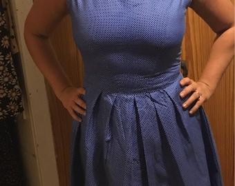Blue poke dote dress