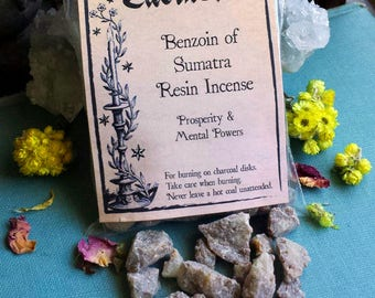 Benzoin Incense, Witchcraft Supply, Wicca Supplies, Witch Incense, Natural Incense, Smudging, Benzoin Sumatra Resin Incense