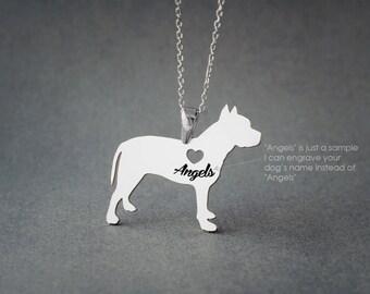 PITBULL Name Necklace - Pitbull Name Necklace - Personalised Necklace - Dog breed Necklace - Dog Necklace