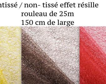Paper / non - woven mesh effect roll of 25 m x 150cm, decoration-wedding dress fabric