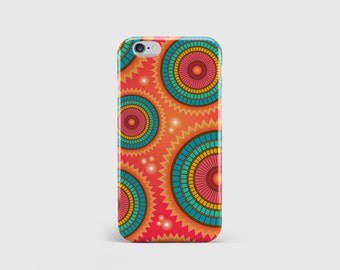 Bright Indie Design iPhone Case, Pattern Design, Indie Circle Design, Phone Case Cover iPhone 7 iPhone 6 iPhone 5 \ hc-pp153