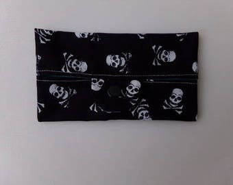 Case for handkerchiefs skull pattern fabrics