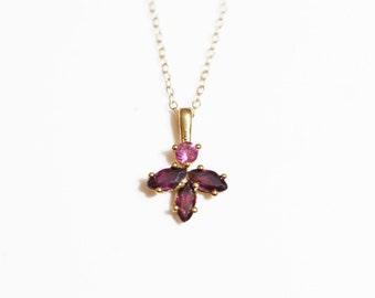 Garnet necklace ,Garnet pendant,Garnet pendant necklace,gold pendant,charm necklaces, delicate necklace, Turmaline necklace, unique necklace