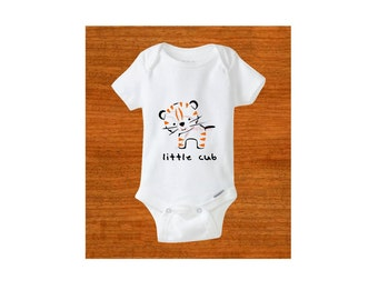 Baby bodysuit. Baby clothes. Little cub. Tiger. Newborn outfit. Baby gift. Baby shower gift. Birthday gift. Clothing. Toddler clothing.