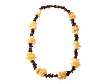 Baltic Hand-Braided Natural Amber Necklace Beads