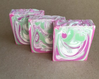 Artisan Handcrafted Lavender and Mint  Cold Process Bar Soap Handmade
