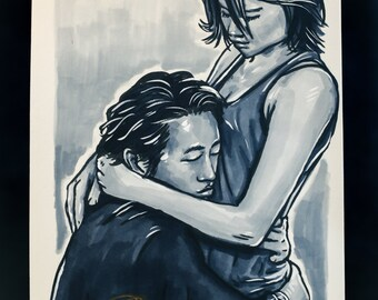 Original Ink - The Walking Dead: Glenn + Maggie