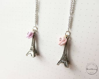Eiffel Tower French Macaron Necklace