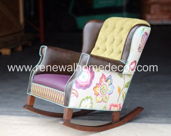 Custom Chair, Upholstered Rocking Chair, Custom Designed For Any Room In  Your Home