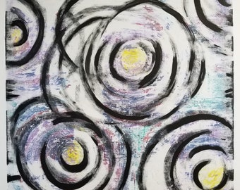 Abstract Floral Original Painting