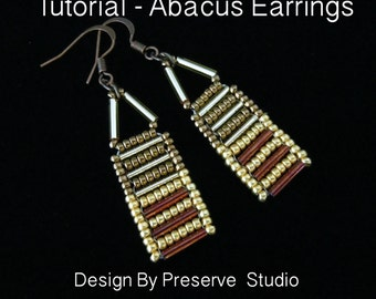 Jewelry Tutorial, Seed Bead Earrings, Beading Tutorial, Abacus Earrings, Bugle Bead Earrings, DIY Earrings
