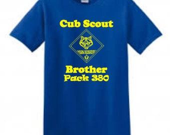 Cub Scout Brother Shirt /Cub Scout Shirt / Sibling Shirt / Scout Shirt