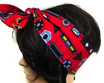 Satin lined headband. Ankara headband. Ankara bandana.