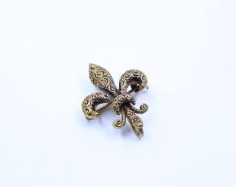 Fleur De Lis Pin Brooch Watch Pin