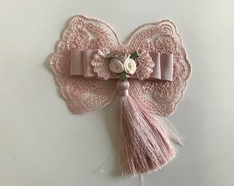 Bow tie lace and Ribbon 10 cm width