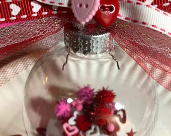 Valentine Button/Confetti Ornament
