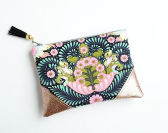 Turtle Gold Black Glitter Mini Zip Pouch, Coin Pouch, Coin Purse, Gift Card Holder, Gifts for Her, Gifts for Teens, Wristlet