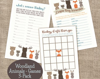 Woodland Games 3 pack