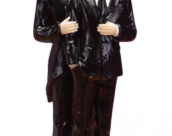 Gay Male Partner Couple Wedding Cake Topper Baking Supplies Jenuine Crafts
