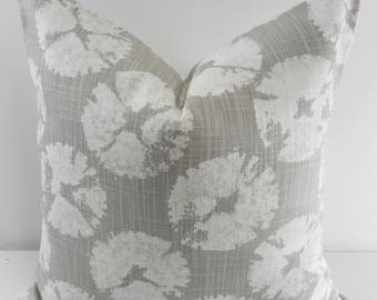 Grey &White   pillow cover. Sand dollar  Print Pillow cover. Throw pillow cover. Cotton. Sham Pillow case. Select your size.