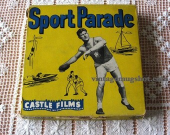 1949 Sport Thrillers 16mm Movie Castle Films Sport Parade LG Reel Thrillers