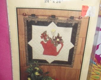Water Can Wall Hanging Pattern - Quilt - Honey Bee Pattern - Sharon Wright- Free Shipping