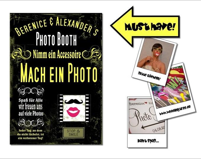 Photo Booth Schild Hochzeit