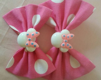 Pink and white Minnie mouse inspired bow bunch