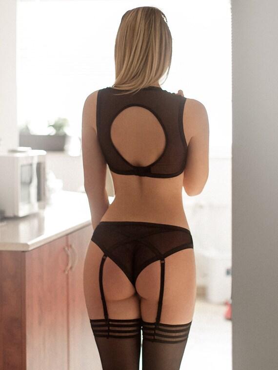 Wife showing her new sexy underwear