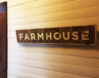 Farmhouse Sign on Cedar Planks 7 x 38  Farmhouse Signs, Farmhouse Decor, Rustic Farmhouse Decor, Farm Signs, Rustic Farm Signs