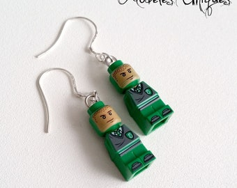 Slytherin Harry Potter Lego figure earrings