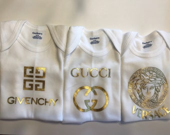 Set of 3 Baby Designer Ispired T-shirts- Cute shower gift