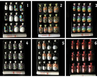 12 PCS Fashion Nails False Pre Colored Tips with Glue