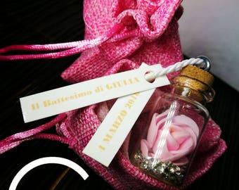 Rose Birth Favor Baptism child/child personalized Message
