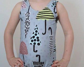 Umbrella Print Swimsuit
